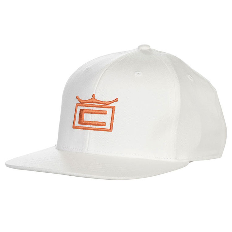 5bd09b6414797 Cobra Tour Crown 110 Snapback Golf Cap White Orange - Clubhouse Golf