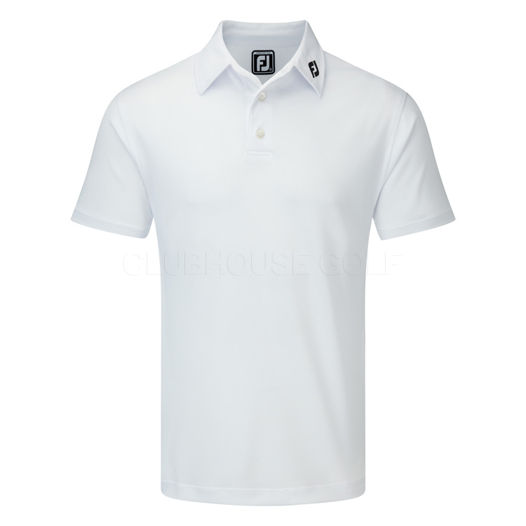 5c77f52a4 FootJoy Stretch Pique Solid Golf Polo Shirt White - Clubhouse Golf