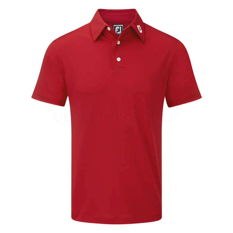 footjoy stretch pique solid golf polo shirt red