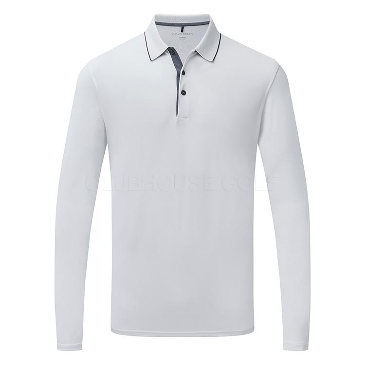 d5ea0e47b Galvin Green Marc Golf Polo Shirt White/Black - Clubhouse Golf