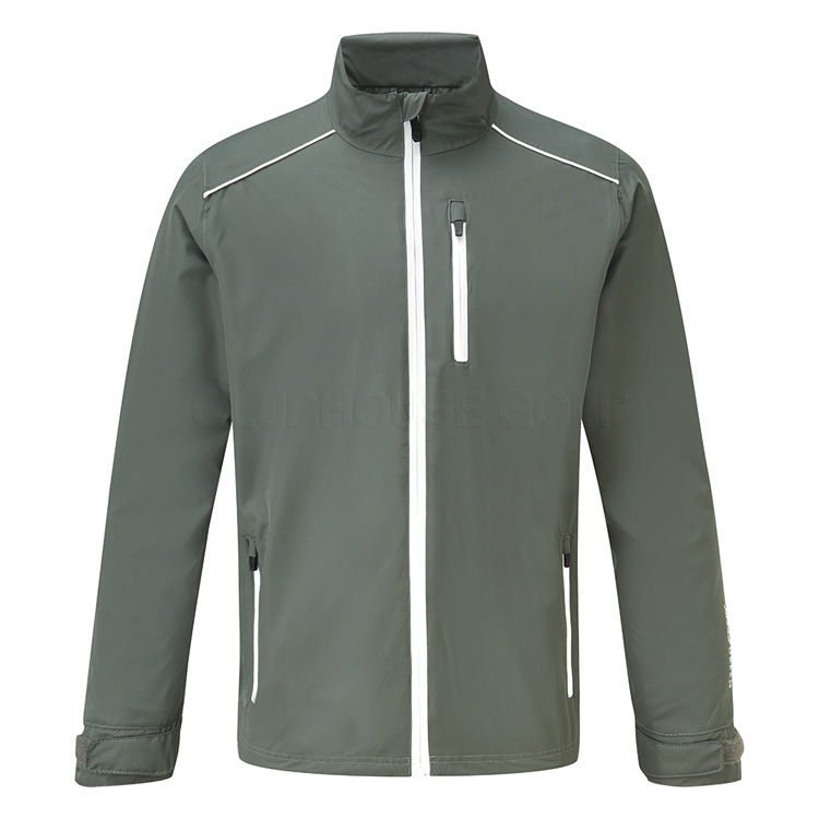 b00cc2eaf50d Island Green Storm Waterproof Golf Jacket Charcoal White. Double tap to zoom