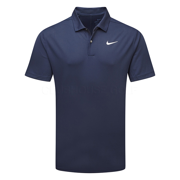 carpeta Arenoso Personas con discapacidad auditiva  Nike Dry Victory Solid Golf Polo Shirt Obsidian/White - Clubhouse Golf