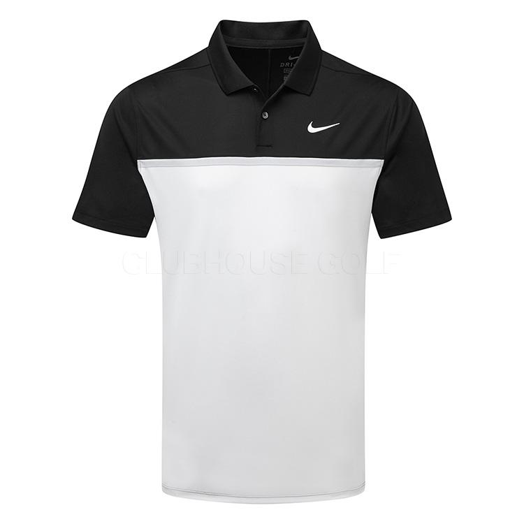 tienda Timor Oriental Rusia  Nike Dry Victory Colourblock Golf Polo Shirt Black/White/Sky Grey -  Clubhouse Golf