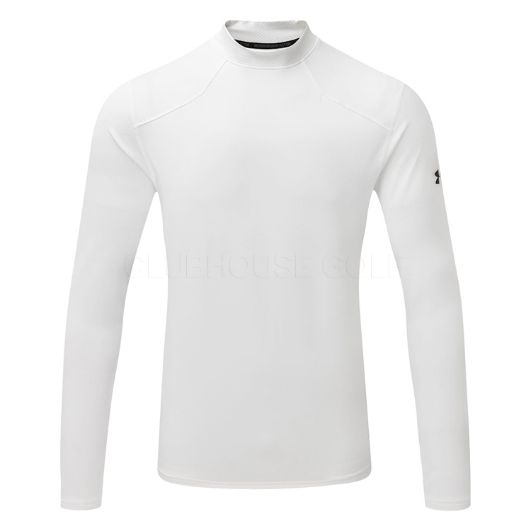 c8364b8a94c441 Under Armour ColdGear Reactor Fitted Golf Base Layer White/Overcast Gray  1298251-100
