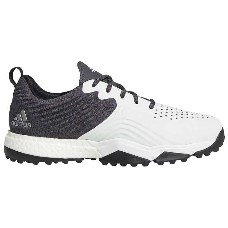 4106e999a adidas adipower 4orged S Golf Shoes Black White Silver. Double tap to zoom