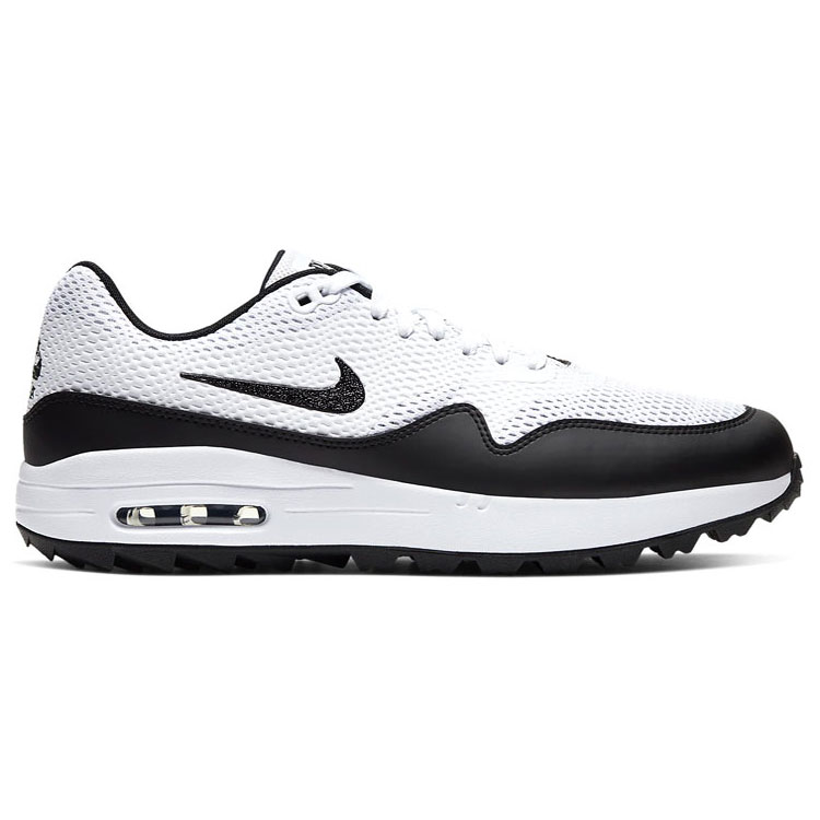 espada Mal constructor  Nike Air Max 1G Golf Shoes White/Black/White - Clubhouse Golf