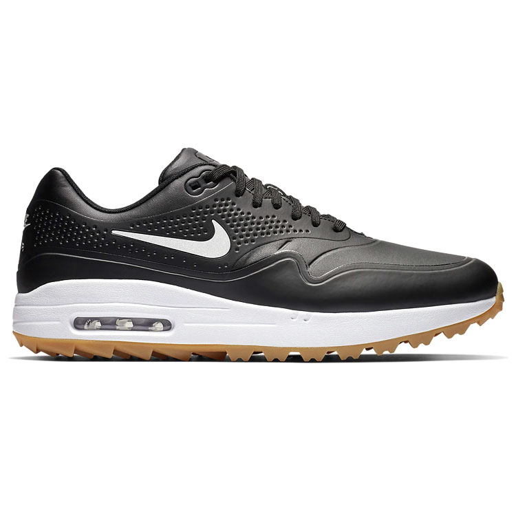 low cost 1eb74 257b3 Nike Air Max 1G Golf Shoes Black Black Gum AQ0863-001