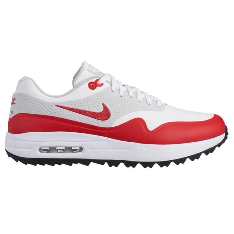 Nike Air Max 1G Golf Shoes White University Red - Clubhouse Golf 2d558b952