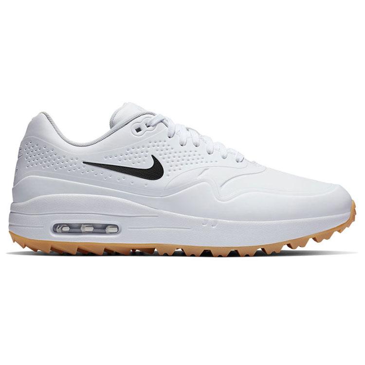 best value 14311 48875 Nike Air Max 1G Golf Shoes White White Gum AQ0863-101