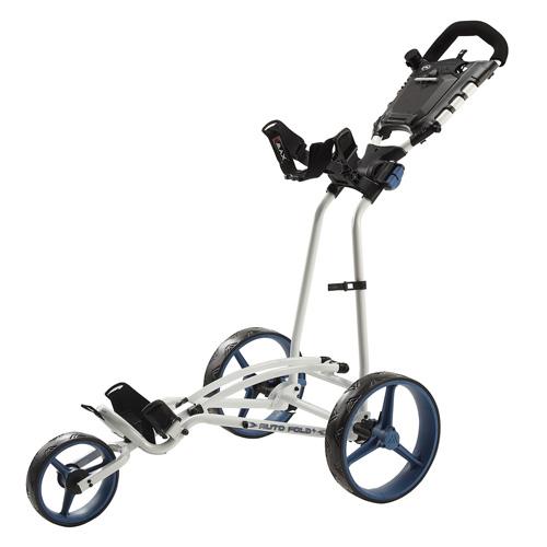 Big Max Autofold Golftrolley.Big Max Autofold Ff 3 Wheel Golf Trolley White Cobalt