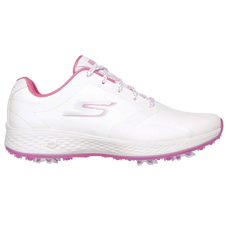 best authentic cd1f3 3e5f4 Skechers Ladies Go Golf Eagle Pro Golf Shoes White Pink 14869-WPK