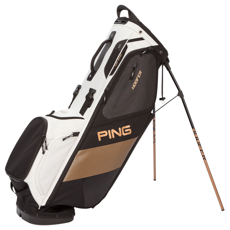 Ping Hoofer Golf Stand Bag Black White Copper 33882-02 5e88932609733