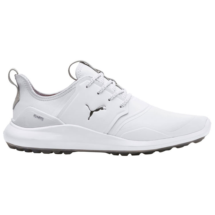 Puma Ignite NXT Pro Golf Shoes White Silver Gray - Clubhouse Golf 962b8a262