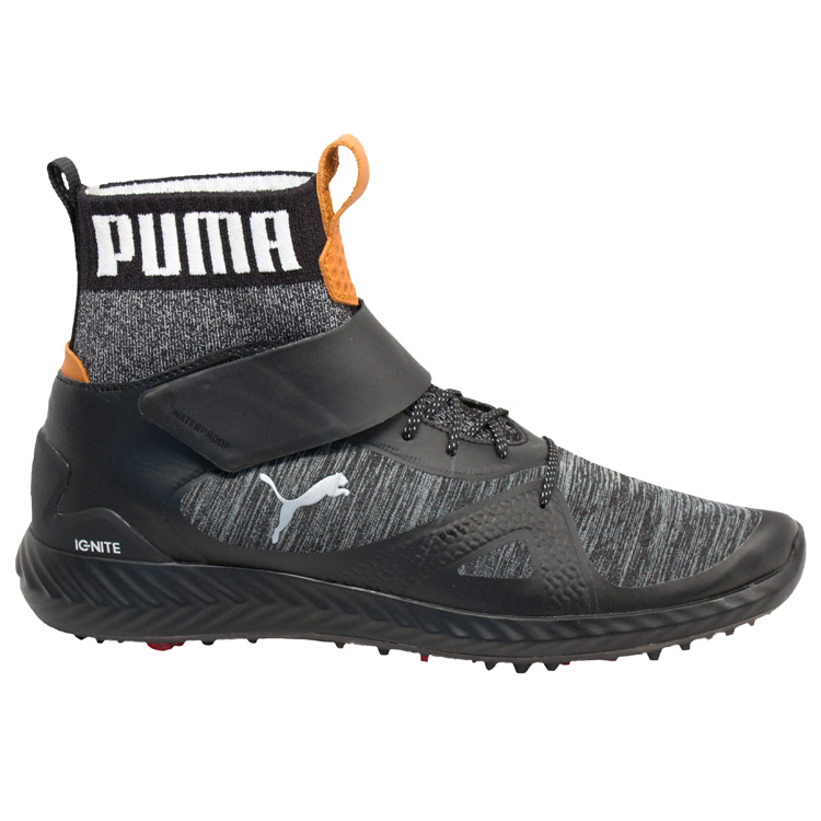 4a614326f5c Puma Ignite PWR Adapt Hi-Top Golf Shoes Black Silver - Clubhouse Golf