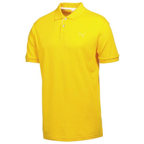 Puma junior transdry pique golf polo shirt cyber yellow for Yellow golf polo shirts