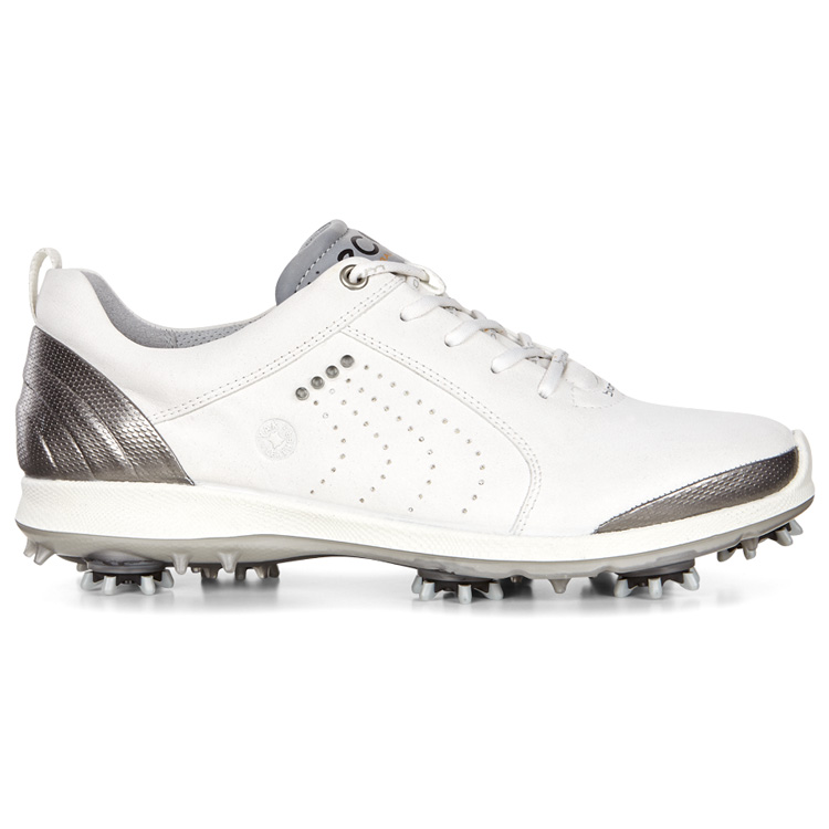 Ecco Ladies Biom G2 Free Golf Shoes White/Buffed Silver 101533-54510