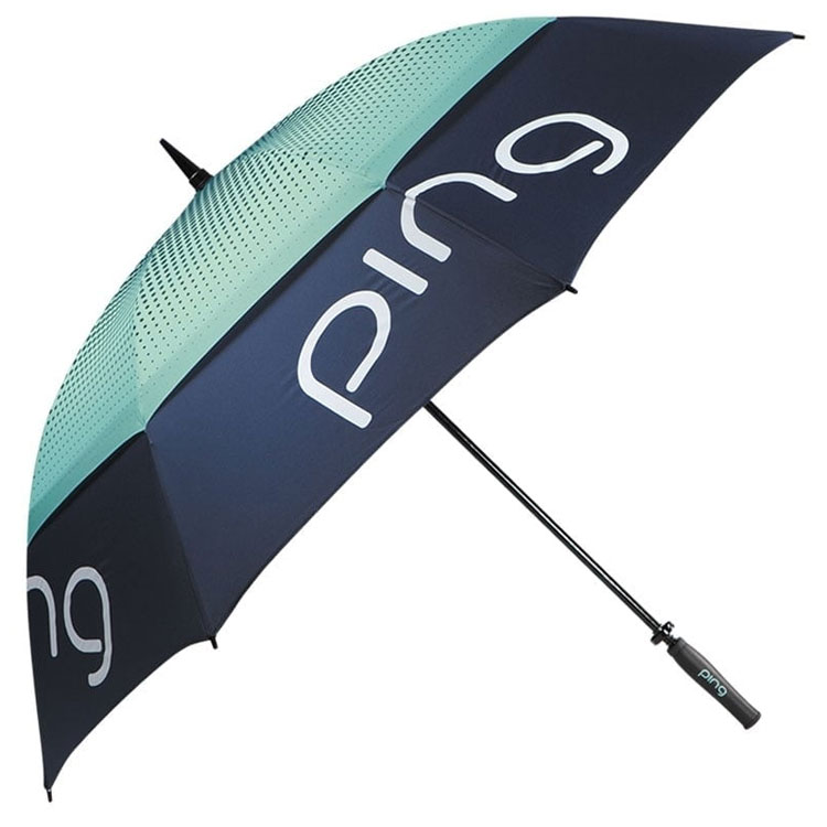 Ping Ladies Tour Double Canopy Golf Umbrella Navy Mint