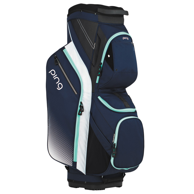 4b4abdd2b648 Ping Ladies Traverse III Golf Cart Bag Navy White Mint - Clubhouse Golf