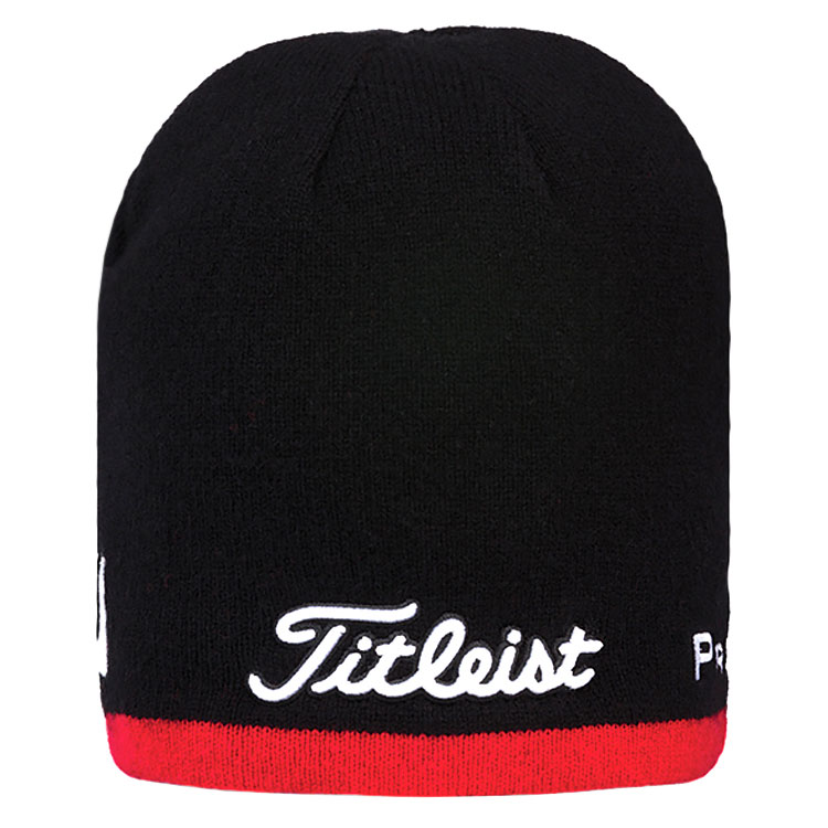 Titleist Merino Performance Golf Beanie Black Red TH7WEAMPB-60. Double tap  to zoom f060dbc6506b