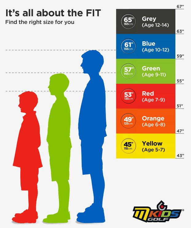 MKids Size Chart