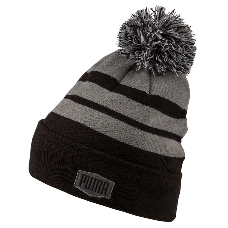 Puma PWRWarm Pom Golf Beanie Black 021695-01. Double tap to zoom 5f93235b14c2