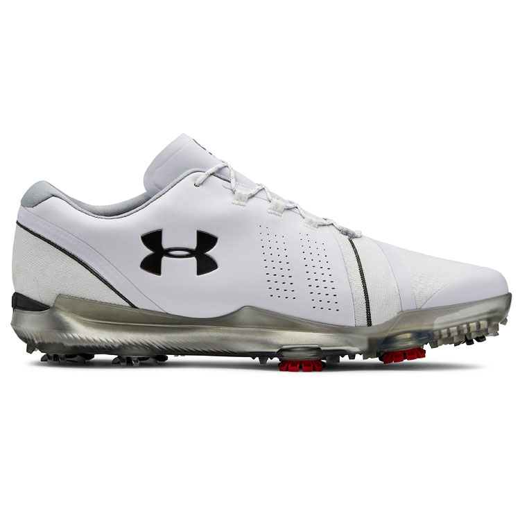 f22802253d616b Under Armour Spieth 3 Golf Shoes White Overcast Grey Gun Metal 3022514-102