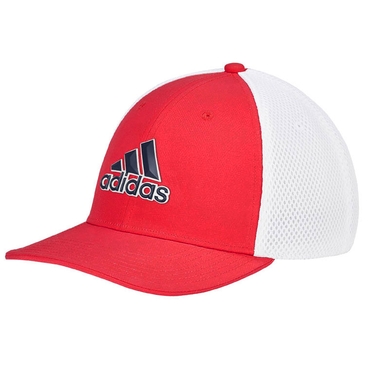 eb15bf8b584 adidas Stretch Tour Golf Cap Bold Red/White - Clubhouse Golf