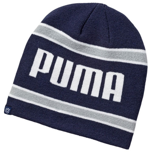 fb897170d8f062 Puma Stripe PWR Warm Golf Beanie Peacoat/Quarry 053111-02. Double tap to  zoom