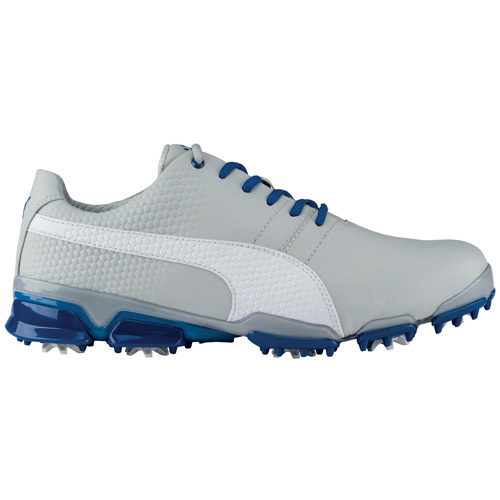 Puma Titan Tour Ignite Golf Shoes Gray Violet White True Blue 188656-09 7a3587c36
