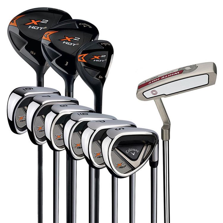 Callaway X2 Hot 10 Piece Golf Package Set Clubhouse Golf